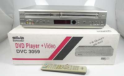 SILVA SCHNEIDER DVC 3059 6-HEAD VHS VIDEORECORDER + FERNBEDIENUNG IM ORIGINALKARTON
