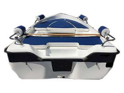 Z 380 DL SET-Angebot günstiges Ausstellungsstück, blau weiß Badeboot, Freizeitboot, Angelboot, Fischerboot, Ruderboot