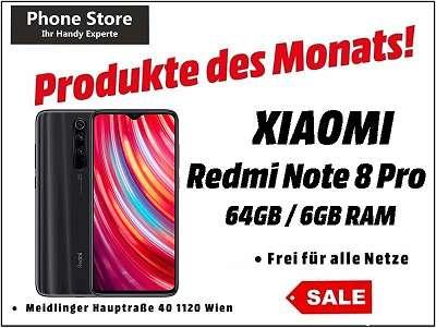 Xiaomi Redmi Note 8 Pro 64GB/6GB Mineral Grey / Nagelneu, Org. Versiegelt/ Werksoffen, Frei Für Alle Simkarten/ Mit 12 Monate Hersteller Garantie/