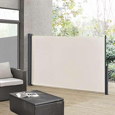 Seitenmarkise 300 x 180 cm beige Markise Gartenmarkise Sichtschutz JU25411
