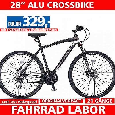 Neu 28 Zoll Alu Crossbikes - Mit Hydraulische Scheibenbremsen - 21 Shimano Gänge- Neue Model - Im Karton