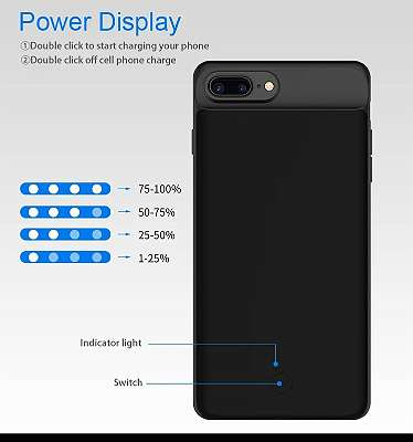 battery case 7000mAh for iPhone 6,7,8 Plus