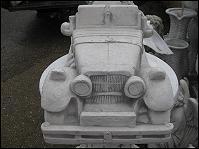 Oldtimer Wagen Auto Steinfigur massiv 70 cm Pflanzgefäß neu