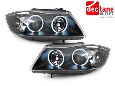 dectane led angel eyes scheinwerfer bmw e90 e91 05 08. Black Bedroom Furniture Sets. Home Design Ideas