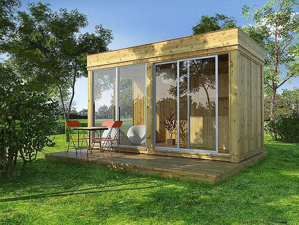garden cube 3 m x 3 m komplettangebot mit schiebet r. Black Bedroom Furniture Sets. Home Design Ideas