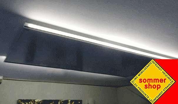 infrarotheizung mitledbeleuchtung leuchtstreifen led lampen netzteile dimmer leuchten. Black Bedroom Furniture Sets. Home Design Ideas