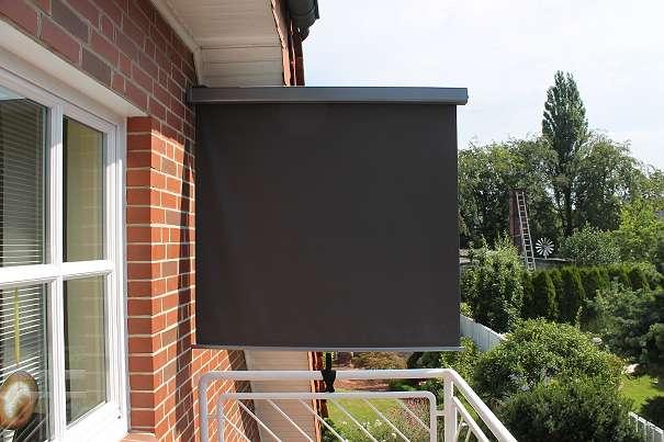 ruck zuck aktion senkrecht balkonmarkise san remo 150 x 200 cm gratis versand anthrazit. Black Bedroom Furniture Sets. Home Design Ideas