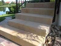 Blockstufen gesägt - Sandstein beige/ gelb - Naturstein