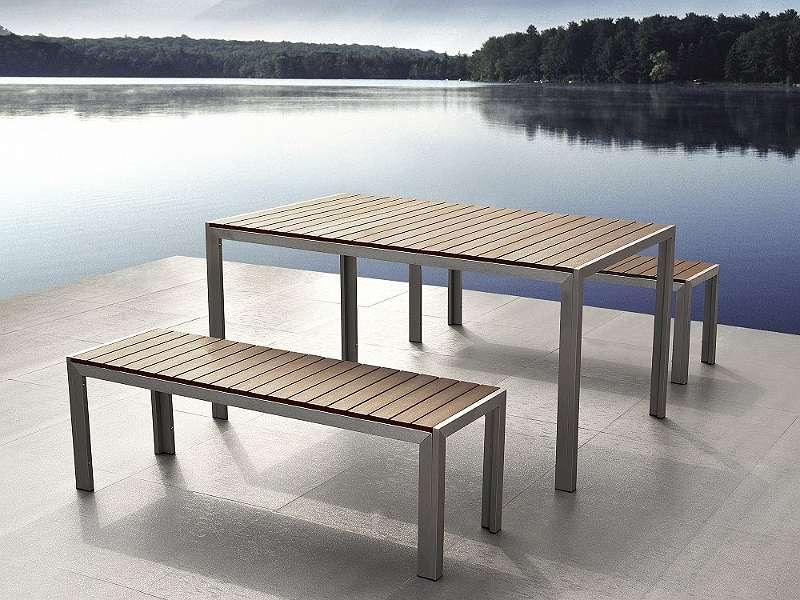 Gartenmöbel Set Aluminium Kunstholz braun 8-Sitzer NARDO, € 439 ...