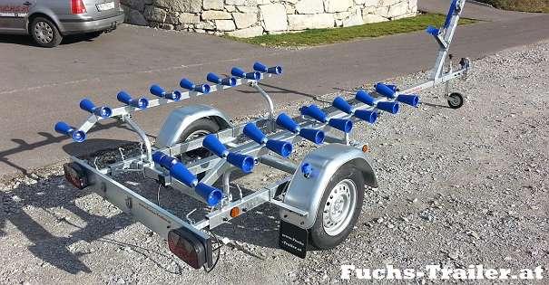 NEUER 500 KG Bootstrailer Bootsanhänger für Boote bis 4,5 Meter ...