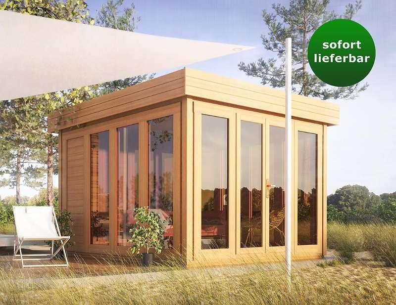 flachdach gartenhaus sonneninsel 3 50 x 3 70 meter aus. Black Bedroom Furniture Sets. Home Design Ideas