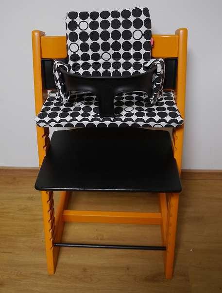 stokke tripp trapp hochstuhl in orange schwarz sehr guter zustand optional mit babyset und. Black Bedroom Furniture Sets. Home Design Ideas