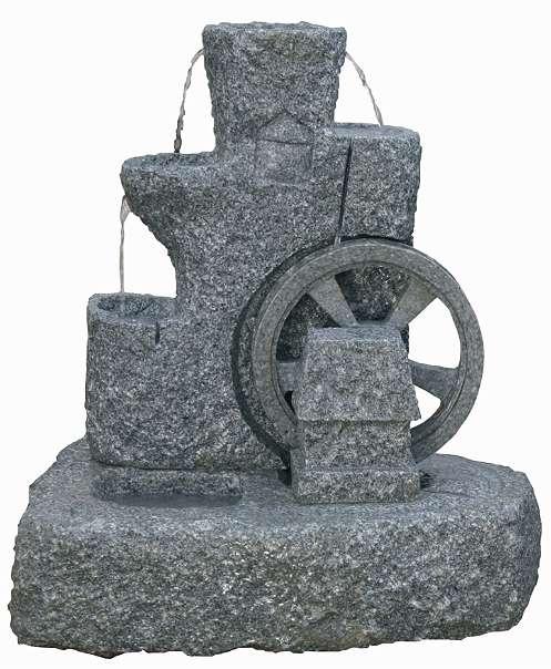 echter mühlrad granit brunnen wasserspiele, € 1.830,- (3264, Garten und bauen