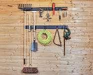 Gerätehalter Set 13 tlg. - Gartengeräte aufhangung - Garten Aufbewahrungsset - Aufbewahrung - Gerätehaken - inkl. Metallschiene