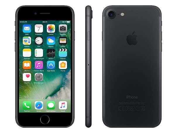 apple iphone 7 32gb simlock frei ios 10 farbe matt schwarz. Black Bedroom Furniture Sets. Home Design Ideas