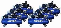 6er-Set Kolben-Kompressor CL 970/12,5/180