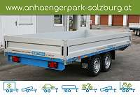 Barthau SP2702 Zweiachsanhänger Hochlader gebremst 4.120 x 2.120 mm, 2.700 kg