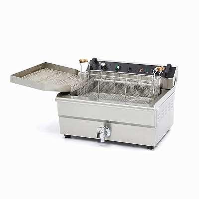 Profi Gastronomie Kaltzonen Fritteuse (30 Liter Volumen für max. 24 Liter Öl) 400 V - 50 Hz Starkstrom