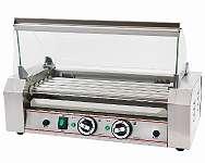 Hot Dog Grill mit 5 rotierenden Heizstäben, Würstchen Grill Gerät ( 50 - 250 °C)