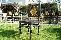 ANTIKE ASIATIKA – 6 außergewöhnliche Sessel, die sonst niemand hat! Stuhl Stühle Ess Eß Speisezimmer Küche Wohnzimmer Orient Indian Glamour Holz