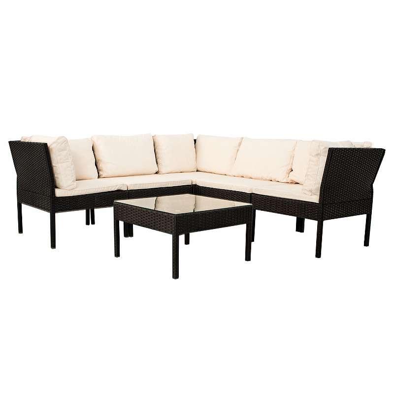 Polyrattan Gartenmöbel Sitzgruppe Santorin in schwarz, € 259,95 ...