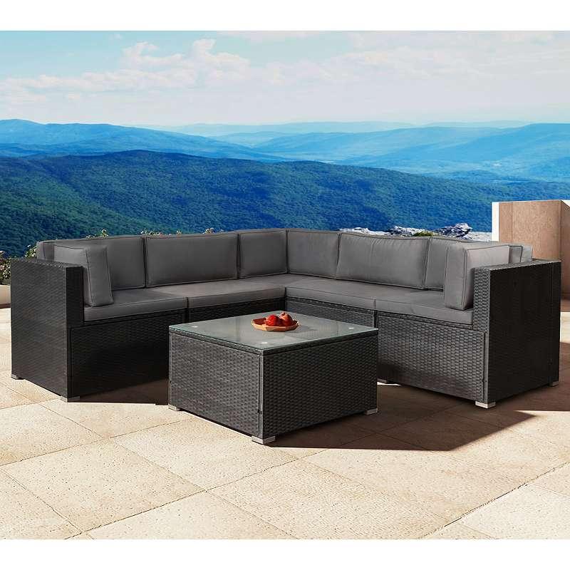 Kostenlose Lieferung ! Polyrattan Gartenmöbel Lounge Sitzgruppe ...