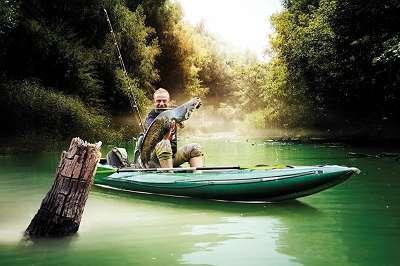 Gumotex Halibut Angelkajak Kajak aufblasbar Schlauchboot Kanu Paddelboot Fischer Ruderboot