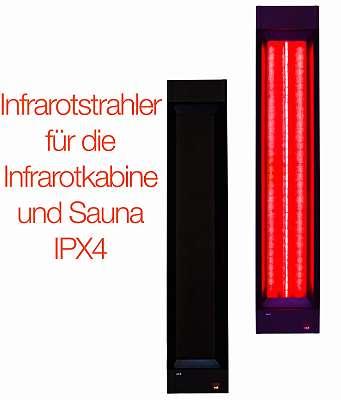 Infrarotstrahler Tiefenwärmestrahler für Infrarotkabine und Sauna, Einbau, Eigenbau, Nachrüsten