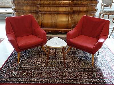 AK209 2 Stück Retro Designer Sesseln der 50/60iger Jahre