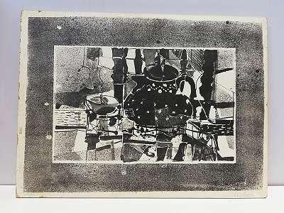 Lithographie , Teekanne u. Tasse ,