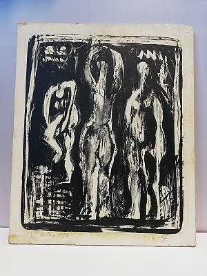 Moderne Kunst , 3 gestalten ,
