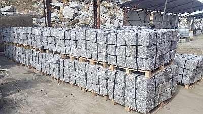 SONDERANGEBOT: 24 Tonnen Mauersteine 20*20*40 - Granit grau oder grau-gelb - Naturstein