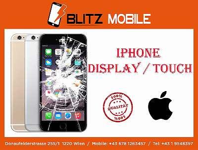 AKTION iPhone 5 - 5S - SE - 5C - 6 - 6s - 7 - 8 - 6 PLUS - 6s PLUS - 7 PLUS - 8 PLUS - X - XS - XR - XS MAX / LCD DISPLAY TOUCH AUSTAUSCH / QUALITÄT / MIT GARANTIE / BLITZ MOBILE DONAUFELDERSTRASSE 255 1220 WIEN.