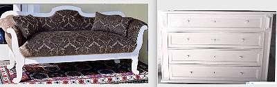 elegantes Sofa, Liegebank, Biedermeierstil, top restauriert,
