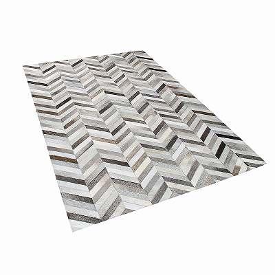 Teppich helles Beige//grau 140 x 200 cm Shaggy PENDIK