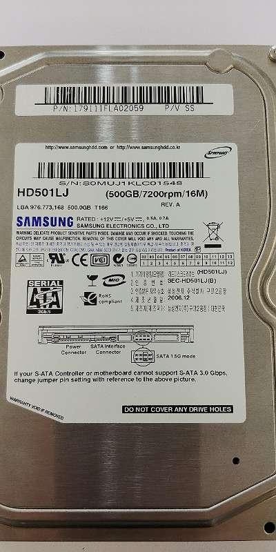 "Samsung HD501LJ 500GB 7200rpm 3,5"" HDD Festplatte + GARANTIE"