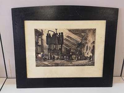 Lithographie , Stahlwerk