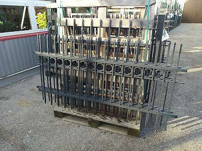 Stahl Zaunfelder - 4 Stück, Abverkauf