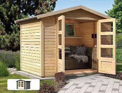 Karibu Gartenhaus Amberg 4 | Gerätehaus mit gratis Dacheindeckung!