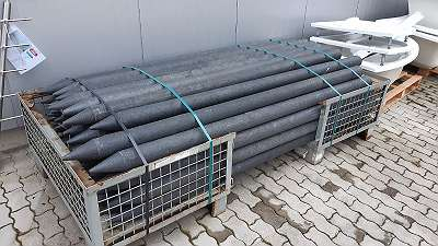 Recyclingpfosten Abverkauf - Durchmesser: 10 cm, Länge: 250 cm, mit Spitze