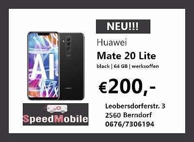 HUAWEI MATE 20 LITE 64GB BLACK | DUOS | NEU | WERKSOFFEN