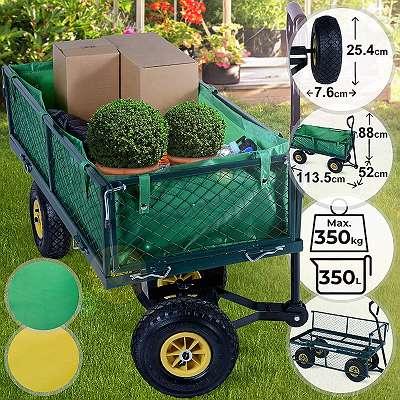 Kampfpreis: Bollerwagen, leichter Gartenwagen, 350kg Nutzlast,