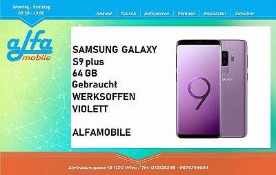 SAMSUNG GALAXY S9 PLUS SINGLE SIM 64 GB SPEICHER IN VIOLETT , GEBRAUCHT SEHR GUTER ZUSTAND, OFFEN FÜR ALLE NETZE , VOLLE HERSTELLER GARANTIE , ALFAMOBILE !