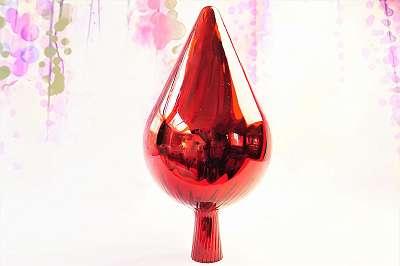 ROSENKUGELN! Traumhaft schön und funkelnd! Märchenhafte Rosenkugeln aus Glas für Garten, Balkon und große Zimmerpflanzen! bunte Deko rot