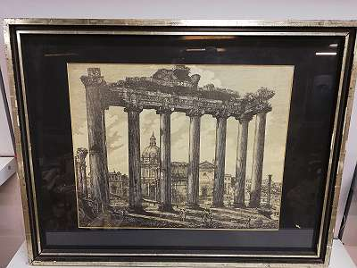 Giovanni Battista Piranesi: Saturn Tempel im Romanium in Rom