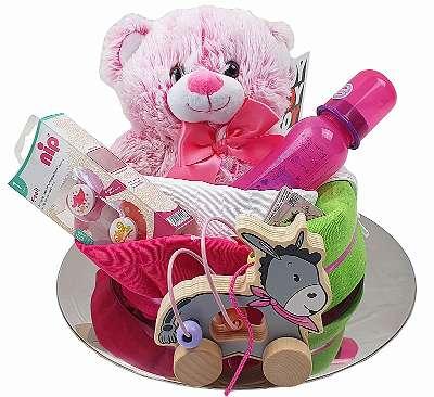 Windeltorte Mädchen rosa