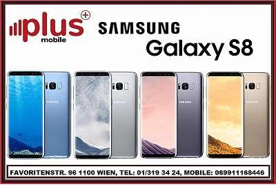 SAMSUNG GALAXY S8 64GB ORCHID GREY , GEBRAUCHT, IN GUTEM ZUSTAND, WERKSOFFEN, GARANTIE, PLUS MOBILE !