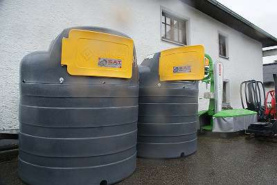 Dieseltank-Zapfsäule-Dieselpumpe-Tank 1.500l doppelwandige Betriebstankstelle