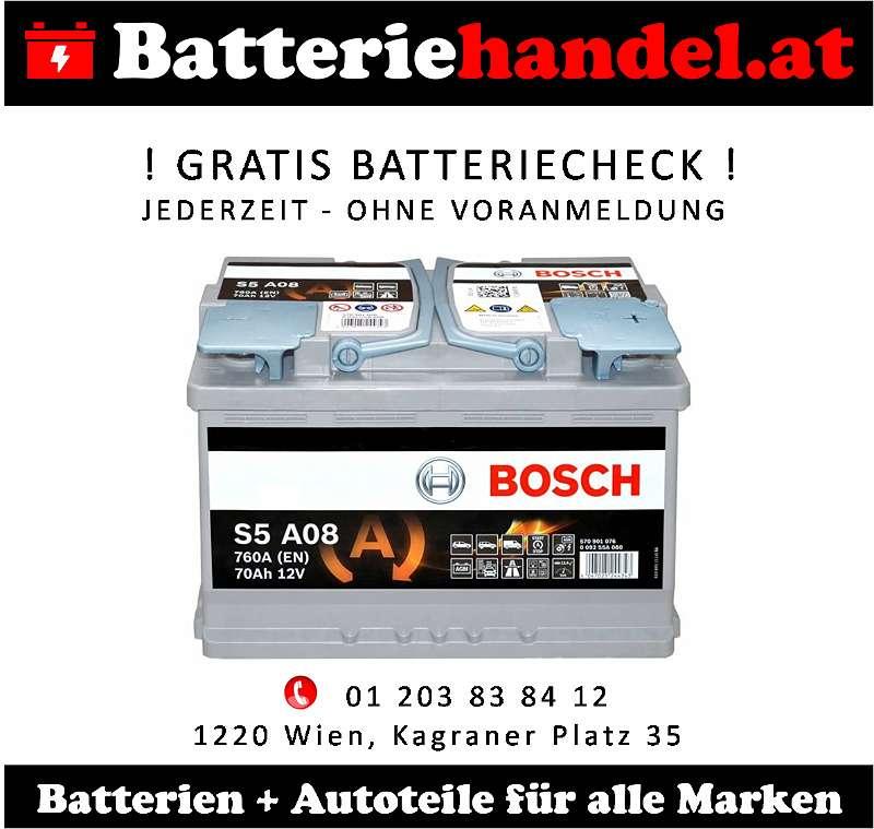 (1) Autobatterie - Starterbatterie - PKW und LKW