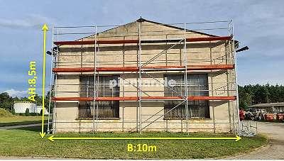 Fassadengerüst Holzböden Baugerüst NEU Gerüst Typ Plettac 85 qm mit Bordbretter